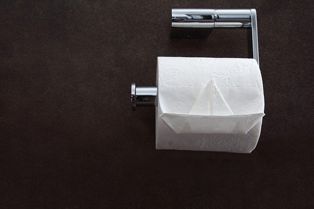 restroom toilet paper, not drinking enough water